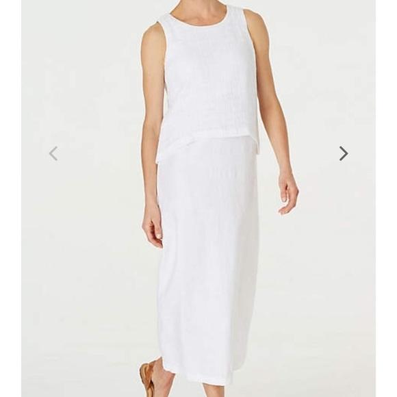 828afb800 J. Jill Dresses | Pure Jill Layered Linen Maxi Dress Nwt | Poshmark